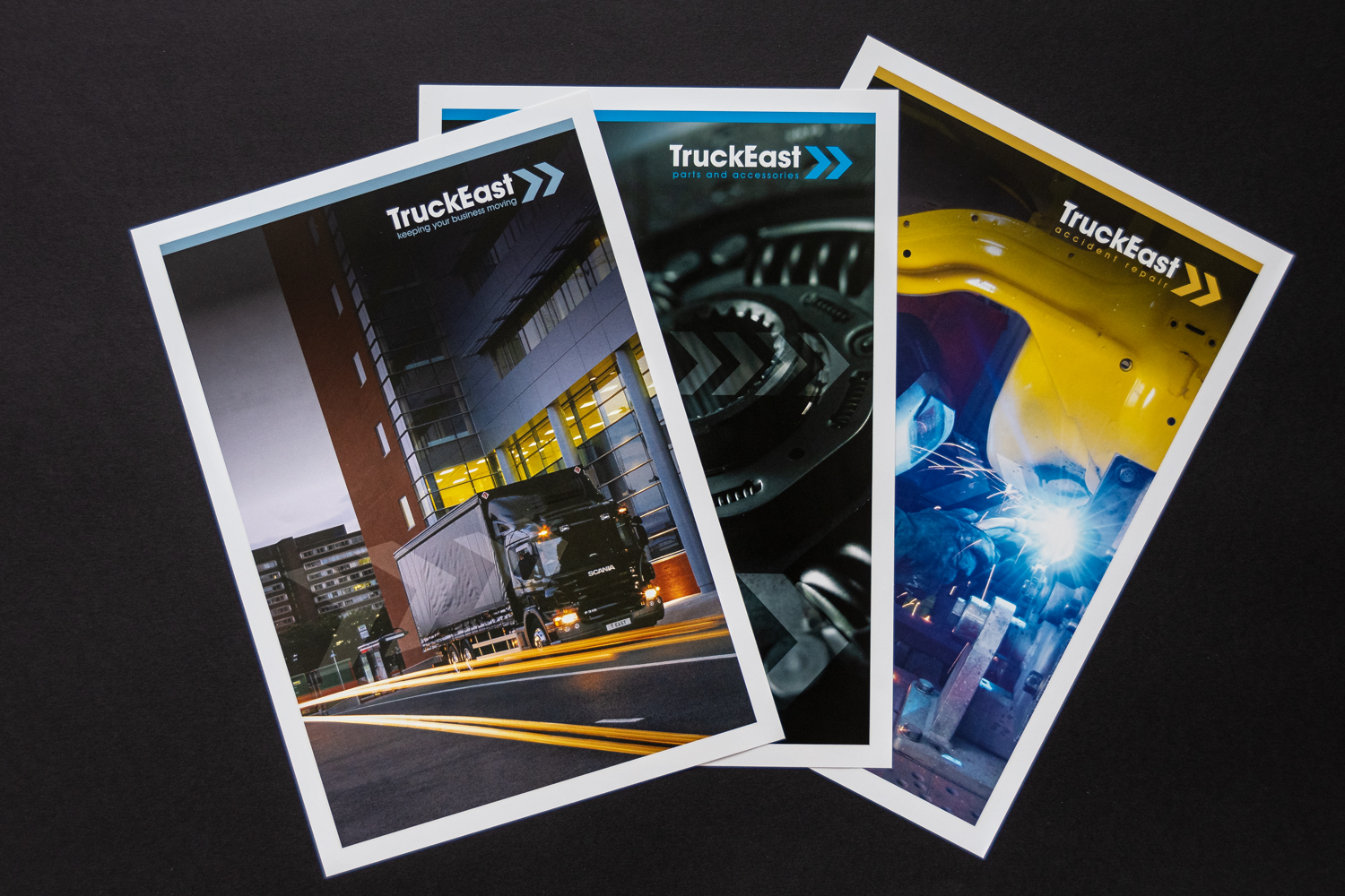 truckeast folder inserts of services